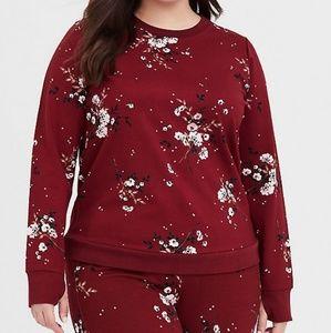 Torrid Floral Ponte Sweatshirt SZ 2 EUC